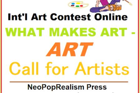Invitation to International Art Contest Online: What Makes Art – Art w/ Book Publishing